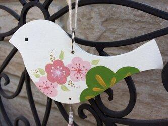 和柄バードのサンキャッチャー(梅の画像