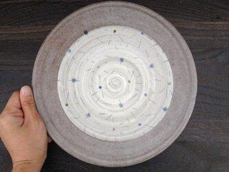星柄の大皿  24.8cmの画像