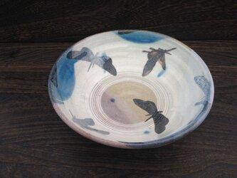 (Lさまご検討中)蝶々のパスタボウル (鉄絵)  19.8cmの画像
