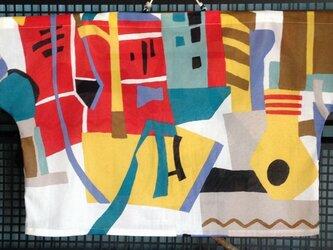 「気分はアロハ」の抽象柄のT・ブラウスの画像