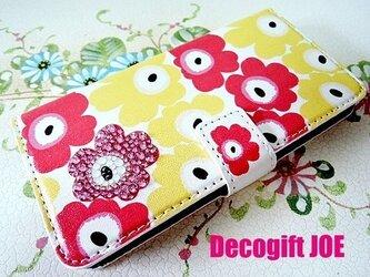 iPhone6ケース スワロデコ/花柄 マルチ2の画像