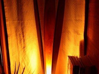 木のあかり 欅f-01 floor lightの画像