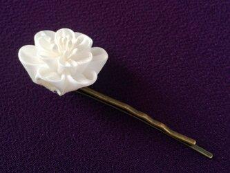 八重桜のヘアピン【つまみ細工/正絹】の画像