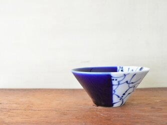 藍のリズム 11cmの円錐ボウルの画像