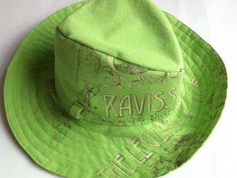 お気に入りのTシャツで作るつば広帽のセミオーダーの画像