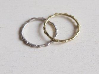 【再販】-SV/BR- Melting Ring Setの画像