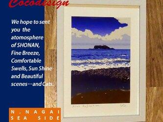 Blue Reflection 江ノ島海岸 額装付きの画像