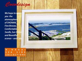 江ノ島マリーナ 遠景 (額装付き)の画像