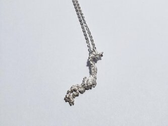 The world map accessory  Japan necklace Silver925の画像