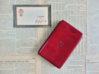 【受注製作】カードケース(名刺ケース)/REDの画像