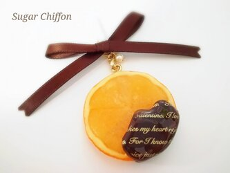 【予約済み】j様専用とろ~りチョコがけオレンジイヤフォンジャックの画像