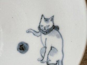染付4寸猫皿 32の画像