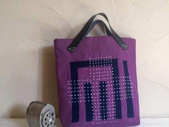 刺し子バッグ「藤袴」の画像