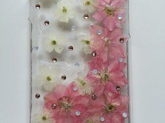 【送料無料】iPhone6 押し花&スワロ カバーの画像