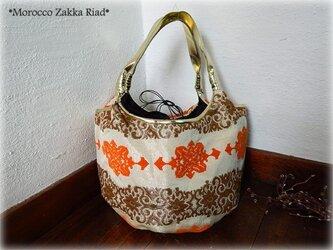 モロカンバルーンバッグ オレンジの画像