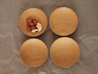 木の小皿 楢材3 4枚セットの画像