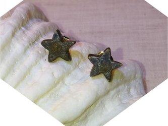 星ピアス(金属質感)の画像