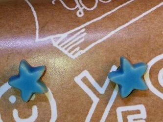 星ピアス(ターコイズブルー)の画像
