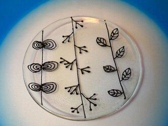 ガラスの丸小皿の画像