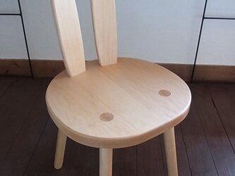 大人のうさぎ椅子の画像