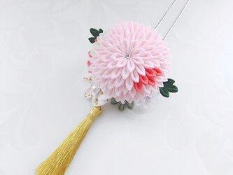 つまみ細工かんざし  Jewel ピンクの画像