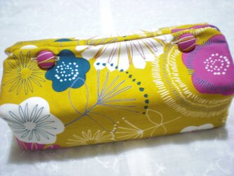 ご予約品 ティッシュカバー 夏花 黄色の画像