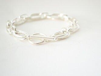 Silver chain Braceletの画像