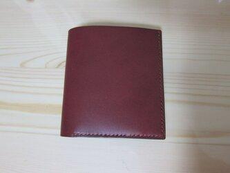 二つ折り財布 ミニ(ワイン)の画像