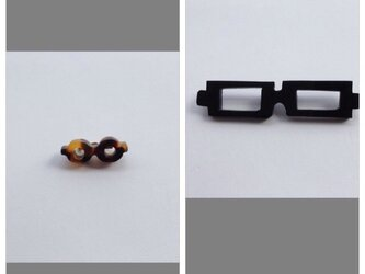 「わたしメガネ好き」アピール用ブローチの画像