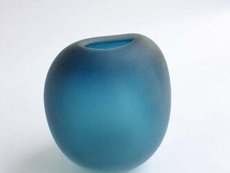 ブルーの花器の画像
