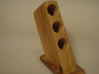デスク用 木製ペンスタンドです。の画像