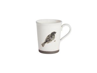 粉引コーヒーカップ(ふくらスズメ)の画像