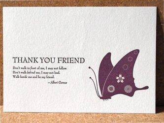 レタープレスカード『蝶と花』3枚セットの画像