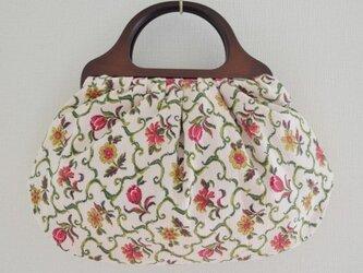 アンティーク花柄バッグの画像