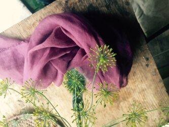 草木染めストール(ログウッド・紫色)の画像