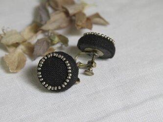 【再入荷】Boutons recouverts en lin(Noir)の画像