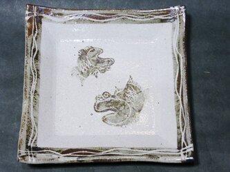 正方形陶板(むつごろう)の画像