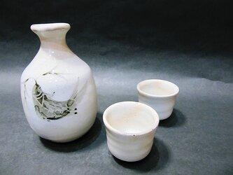 絵粉引酒器セット(草魚)の画像