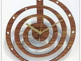 壁掛時計 SPIRAL (ウォールナット)の画像