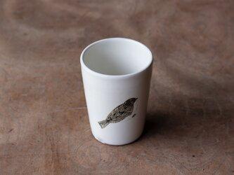 粉引フリーカップ(ふくらスズメ)の画像
