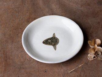 粉引丸皿(マンボウ)【クリックポスト198円可】の画像