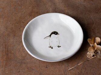 粉引丸皿(アデリーペンギン)【クリックポスト198円可】の画像