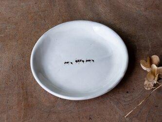 粉引丸皿(アリ)【クリックポスト198円可】の画像