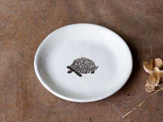 粉引丸皿(ホシガメ)【クリックポスト198円可】の画像