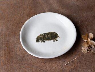 粉引丸皿(カバ)【クリックポスト198円可】の画像