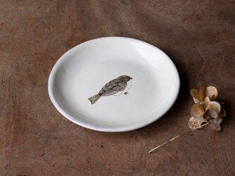 粉引丸皿(ふくらスズメ)【クリックポスト198円可】の画像
