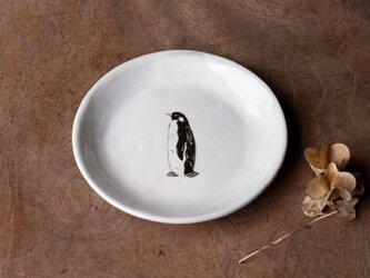 粉引丸皿(コウテイペンギン)【クリックポスト198円可】の画像