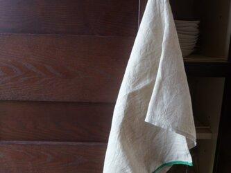 洗いざらしのリネンクロス(ループ付)の画像