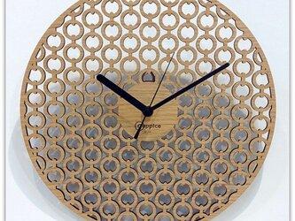 壁掛時計 CHAIN (オーク)の画像