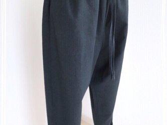 3色展開【紐付き】ハーフリネン生地ポケット付きサルエルパンツ♥の画像